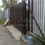 Откатные металлические ворота Щеглово