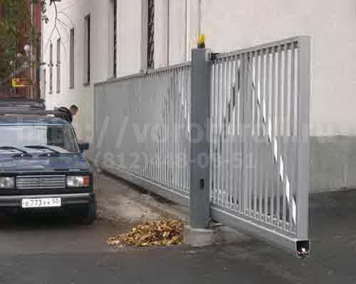 Откатные ворота на парковку