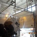 Промышленные подъемно-секционные ворота в рем. зоне