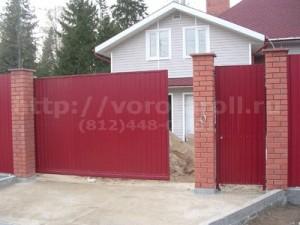 Ворота откатные для дачи